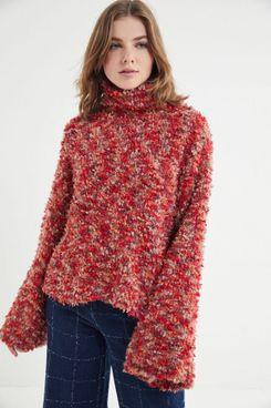 UO Fuzzy Turtleneck Sweater