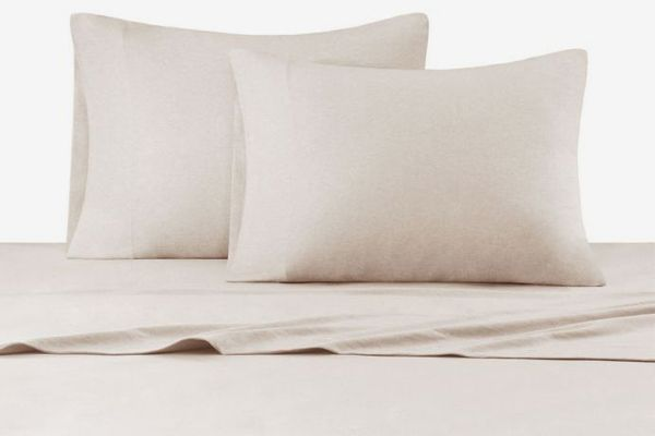 Ink + Ivy Heathered Cotton Jersey Knit Sheet Set