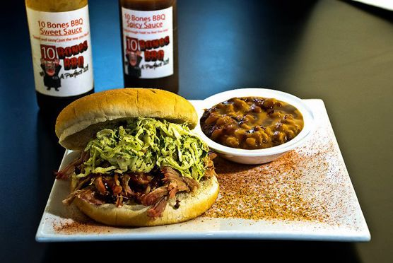 "<a href=""http://www.10bonesbbq.com/index.php"">10 Bones BBQ</a> <br><i>5960 Getwell, Suite 126, Southaven; 662-890-4472</i> <br>Considering his success at Memphis in May (he won the pork shoulder category back in 2007), we definitely wanted to see where Lillie's Q's Charlie McKenna ate when he visited the barbecue capital. But what are we to make of his pick, which is not only technically outside the city limits, but also in a completely different state? ""My favorite barbecue joint in the Memphis area is 10 Bones BBQ in Southaven,"" he told us, ""Their ribs are great."" Luckily, this barbecue excursion is only a short fifteen-minute drive from downtown. <br>"