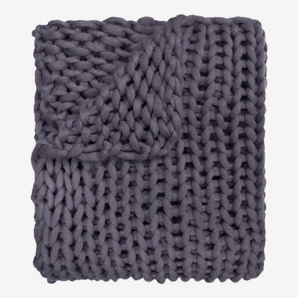 Three Posts Hardwick Chunky Knitted Acrylic Throw