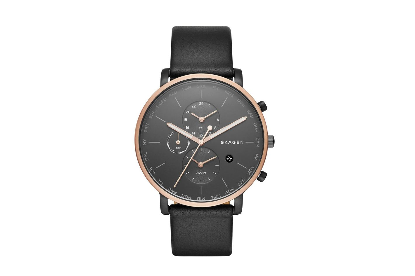 Hagen Chronograph Leather Strap Watch