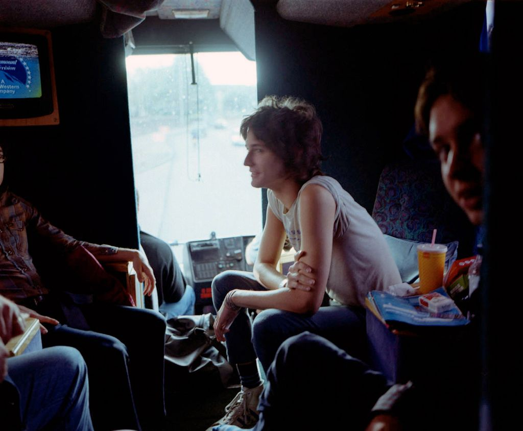 The band on a tour bus in Europe in 2002. The Strokes  An Oral History