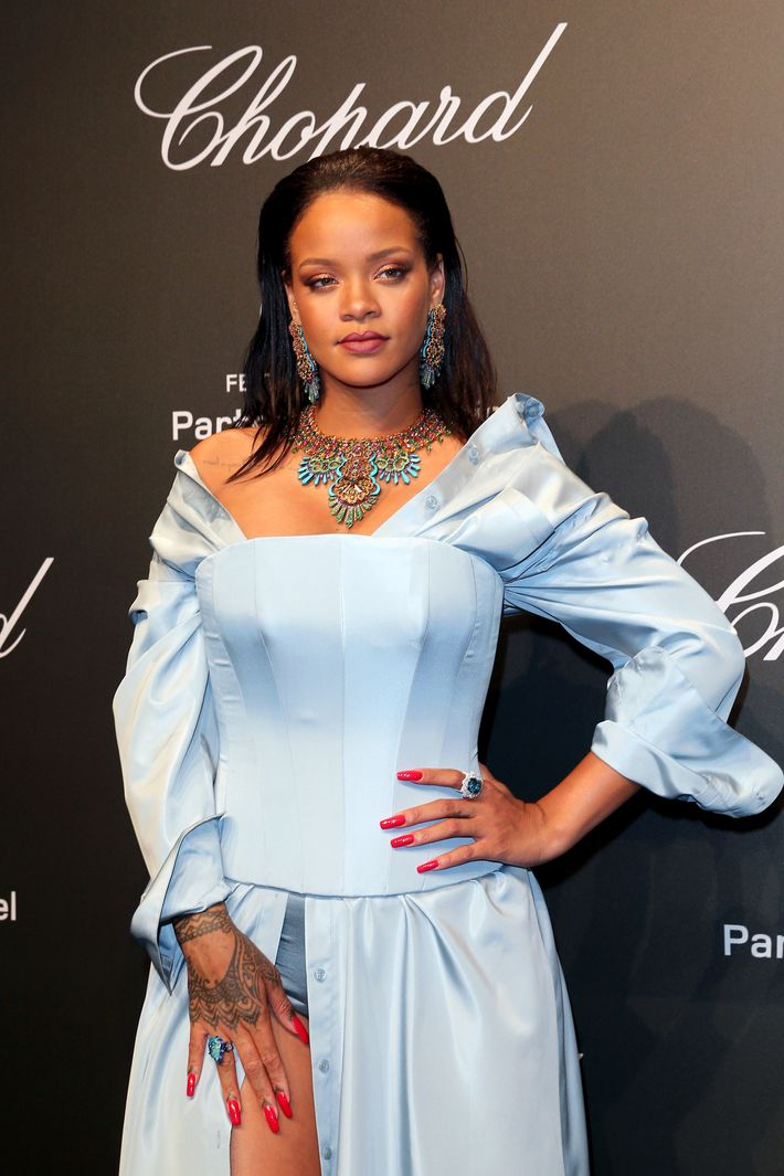 512e2629c967d Rihanna in Adam Selman. Photo: Gisela Schober/WireImage