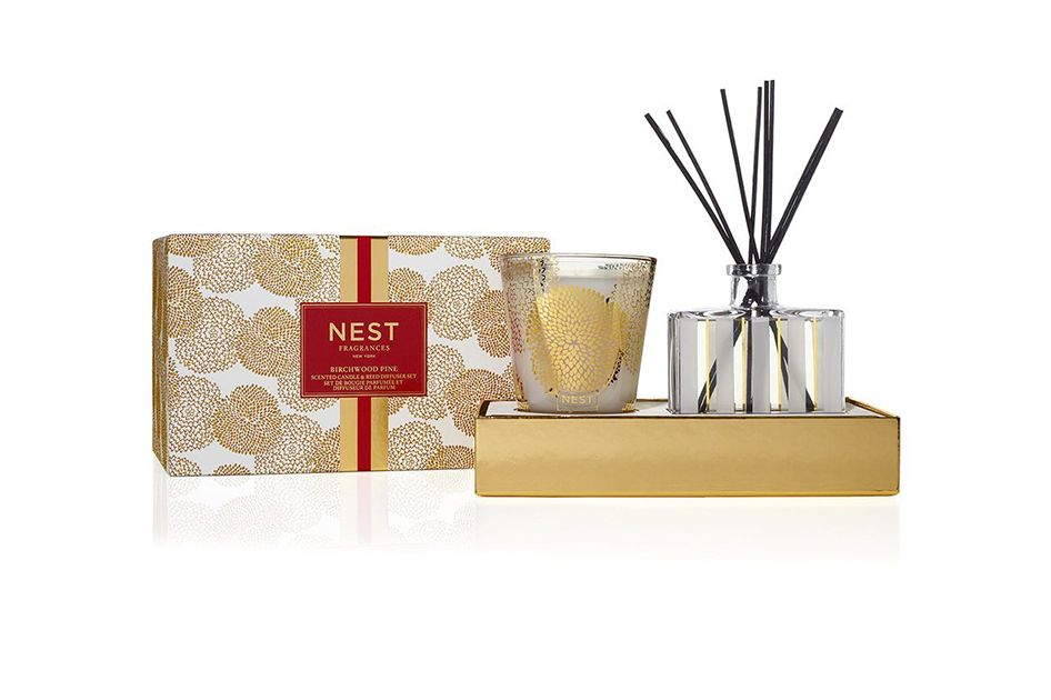 NEST Fragrances Classic Candle & Reed Diffuser Set — Birchwood Pine