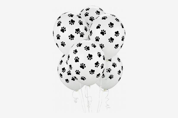 BirthdayExpress Paw Print Balloons, 6 Count