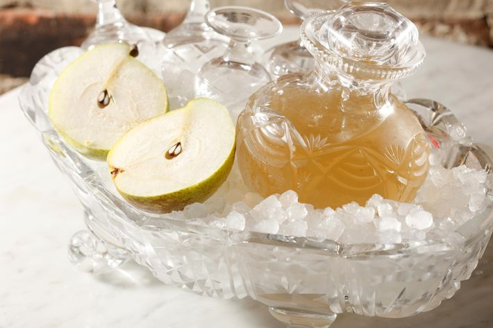 Spiced-pear vodka.