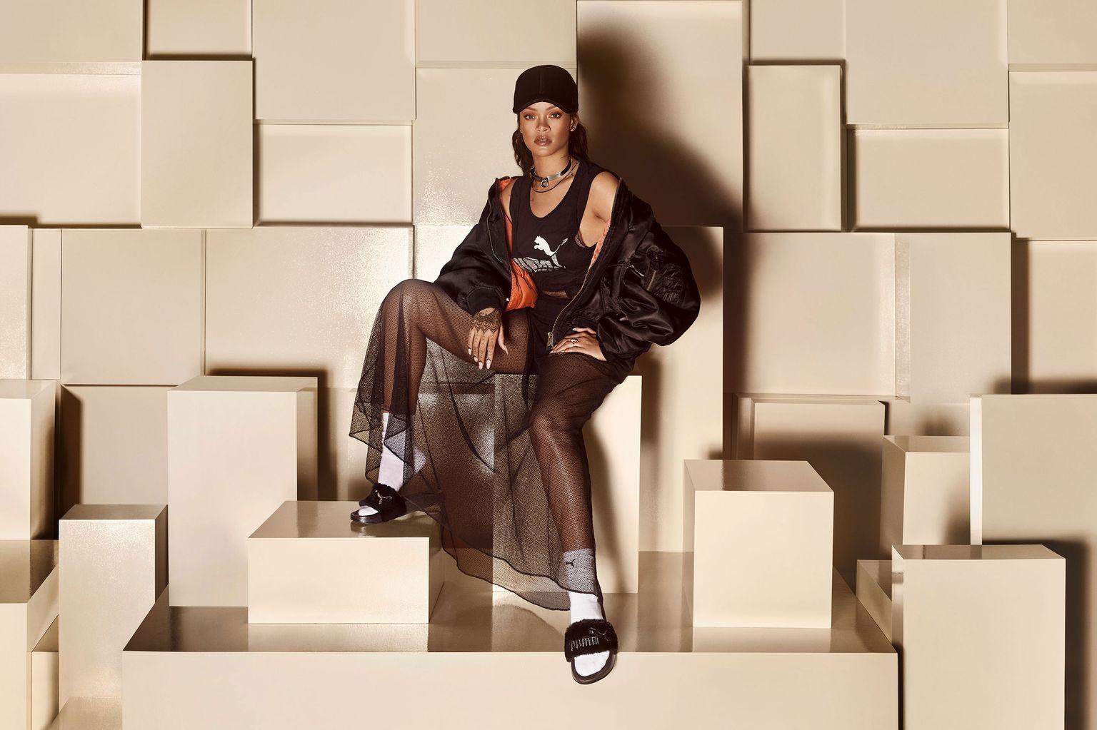 Rihanna Diapositive Fenty Pelliccia Rifornire VLJkP