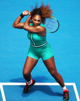 Serena Williams Plays in Incredible Green Leotard 5a65d6e7d