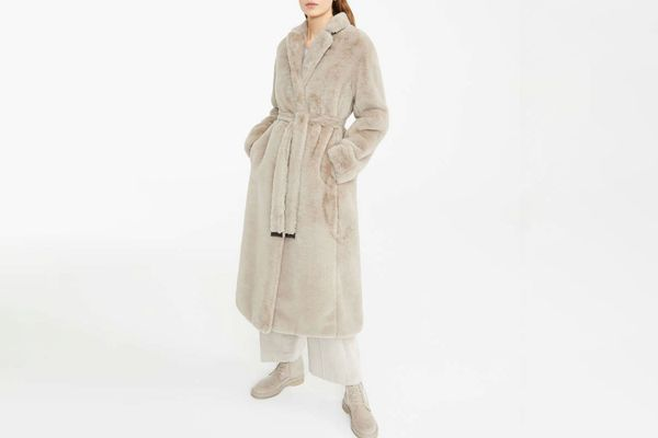 Max Mara Coat in Fur Effect Fabric