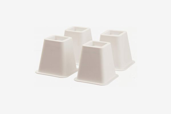 Furniture Chair Table Risers Bed Risers MIIX HOME 4 Inch Bamboo Fiber Bed Risers for Twin//Queen Size Set of 4PCS Beige