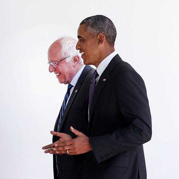 President Obama Meets With Bernie Sanders At The White House