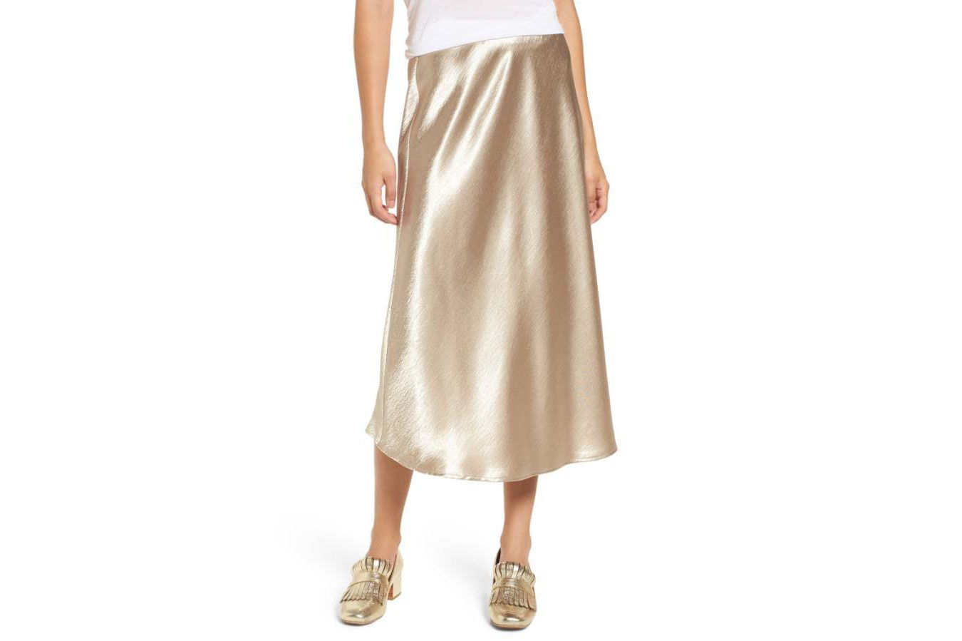 Love, Fire Satin Midi Skirt
