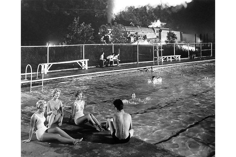 Swimming pool august 28 1958 by o winston link