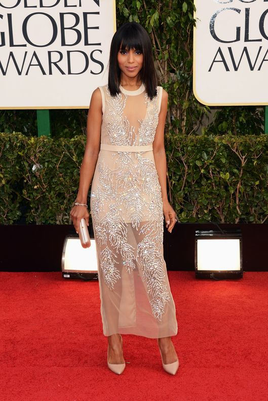 BEVERLY HILLS, CA - JANUARY 13:  Actress Kerry Washington arrives at the 70th Annual Golden Globe Awards held at The Beverly Hilton Hotel on January 13, 2013 in Beverly Hills, California.  (Photo by Jason Merritt/Getty Images)
