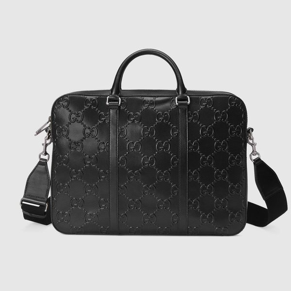 Gucci GG embossed briefcase