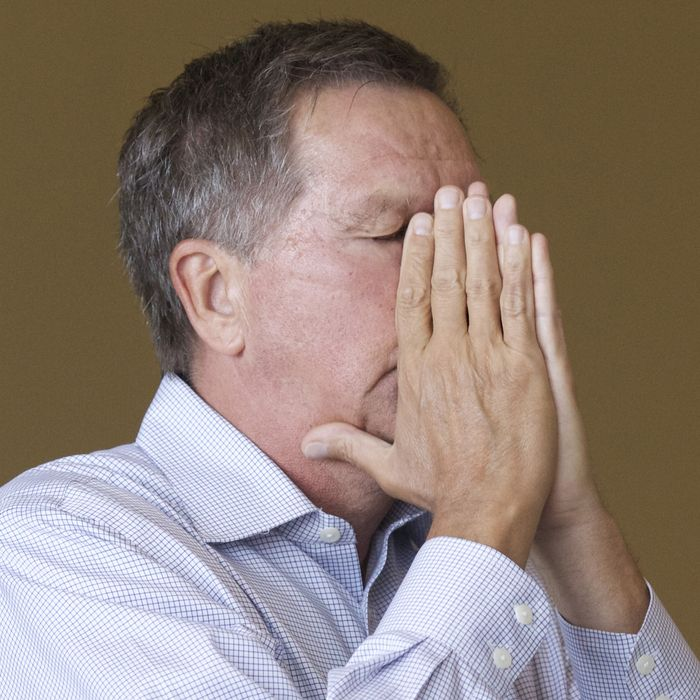 Ohio Governor John Kasich visits Iowa