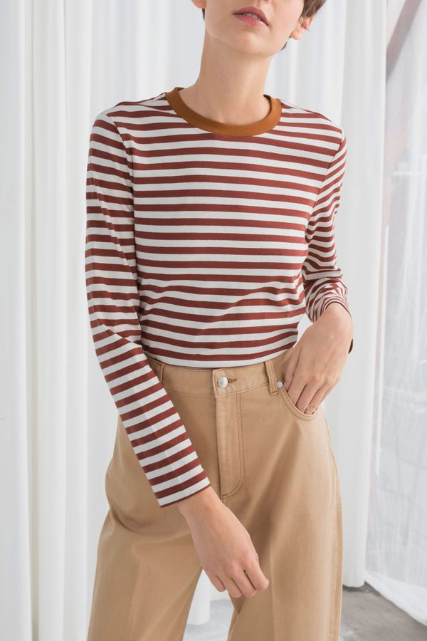 & Other Stories Striped Long Sleeve Tee