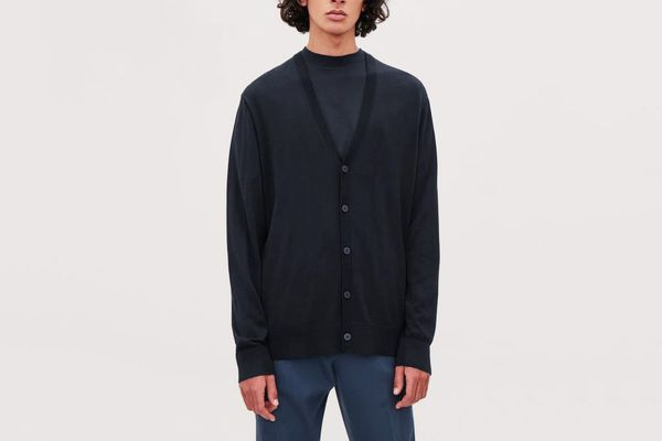 COS Cotton-Silk Knit Cardigan