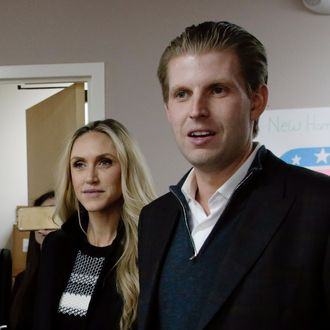 Eric Trump Joins Volunteers At Trump NH HQ To Get Out The Vote On Primary Day