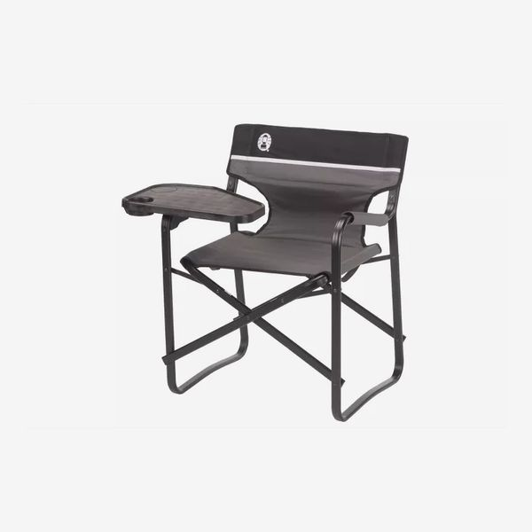 Coleman Aluminum Deck Chair with Swivel Side Table