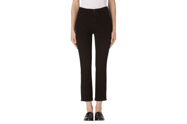 Ruby High-Rise Cropped Cigarette in Shadow Black