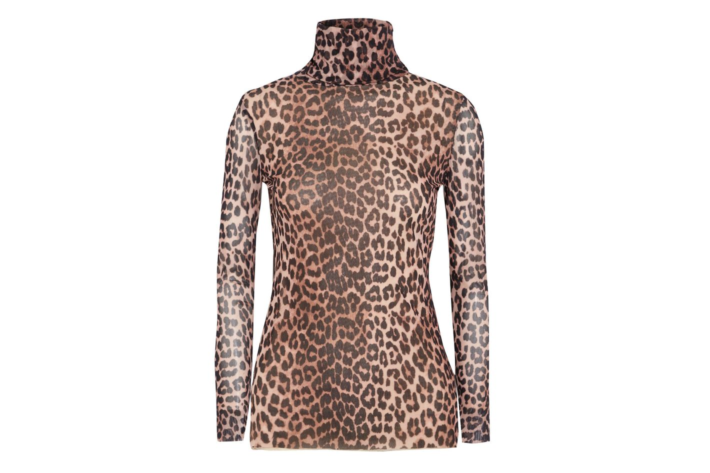 Ganni Leopard Turtleneck