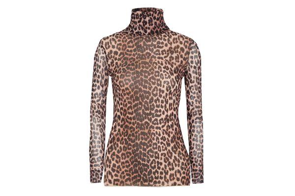 Ganni Leopard Turtleneck