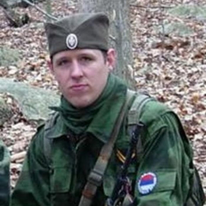 In this handout provided by the Federal Bureau of Investigation (FBI), Eric Matthew Frein, 31, poses on an unspecified date and location. Eric Frein is being sought in the killing of State Trooper Bryon Dickson.