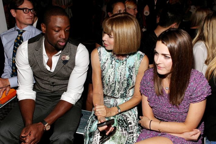 Dwyane Wade, Anna Wintour, and Bee Shaffer.