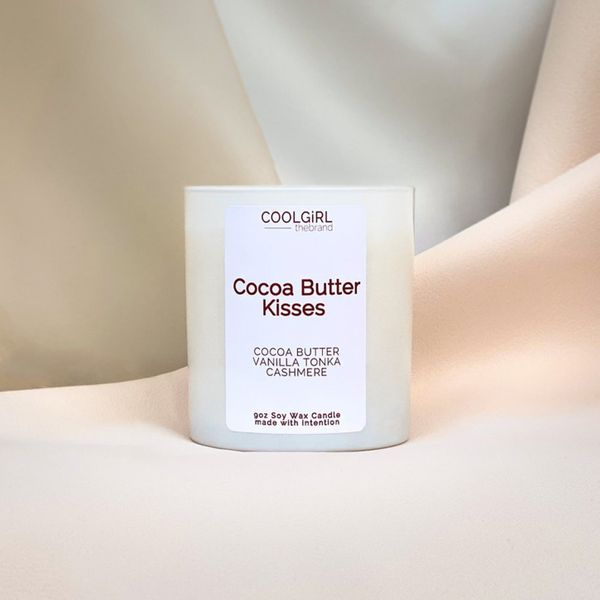 COOLGiRL thebrand 9oz Cocoa Butter Kisses Candle