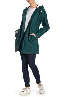 Pendleton Olympic Hooded Slicker Coat, Mallard
