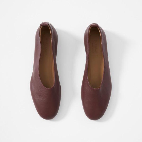 Everlane Day Glove Shoes, Burgundy