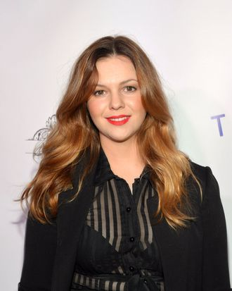 Actress Amber Tamblyn attends the Tie The Knot Spring Collection launch hosted by Jesse Tyler Ferguson, Justin Mikita and Thetiebar.com at Avenue on February 27, 2013 in New York City.
