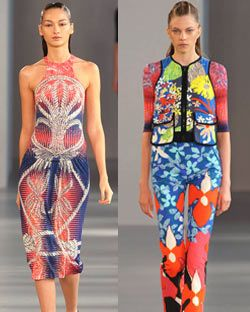 Looks from Peter Pilotto's spring 2012 collection.