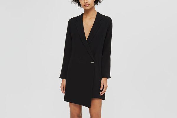 Asymmetric Blazer Dress