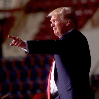 Donald Trump Campaigns In Harrisburg, Pennsylvania