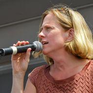 Queens Borough President Melinda Katz addresses the festival