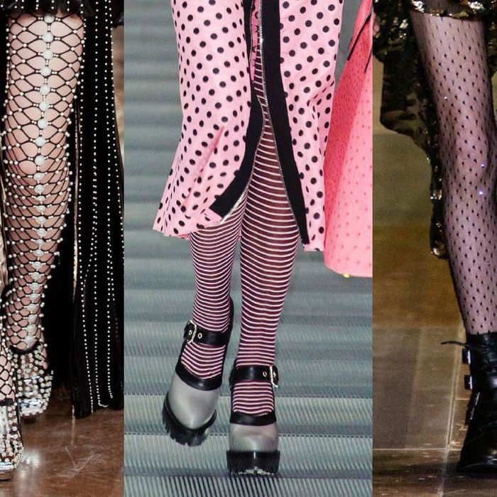 From left: McQueen, Miu Miu, and Saint Laurent.