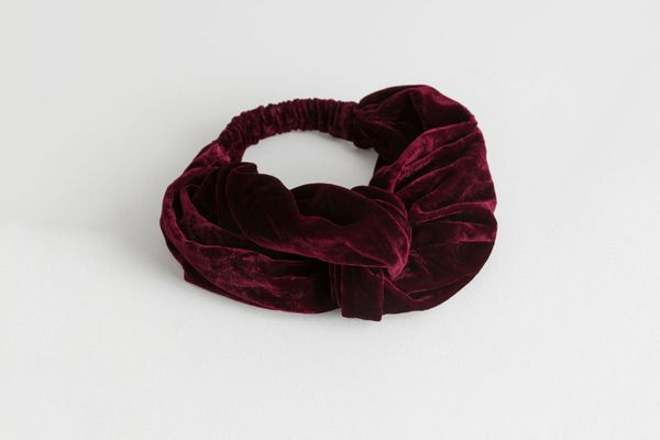 & Other Stories Velvet Twist Knot Hairband