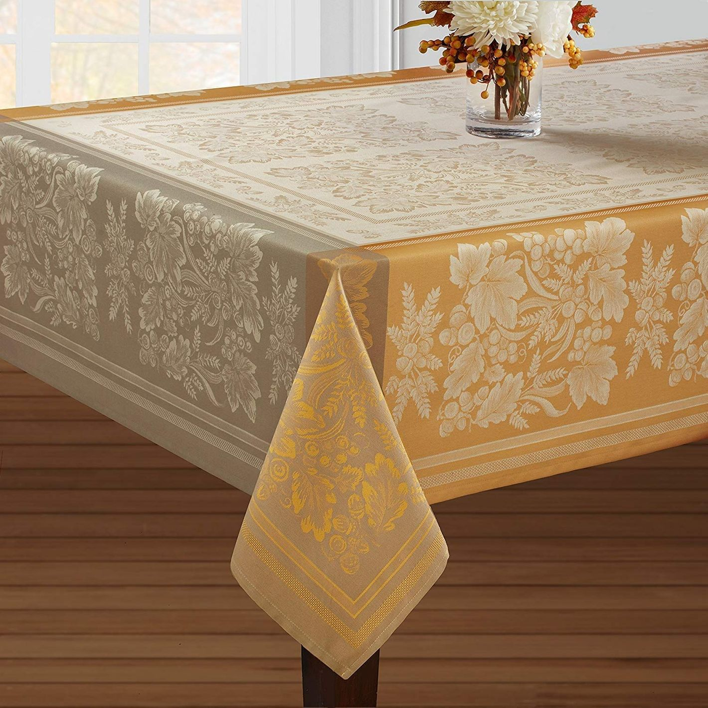 Benson Mills Gathering Engineered Jacquard Tablecloth For Harvest, Fall and Thanksgiving