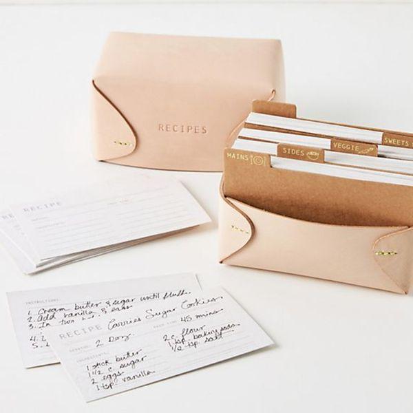Clover Leather Recipe Box
