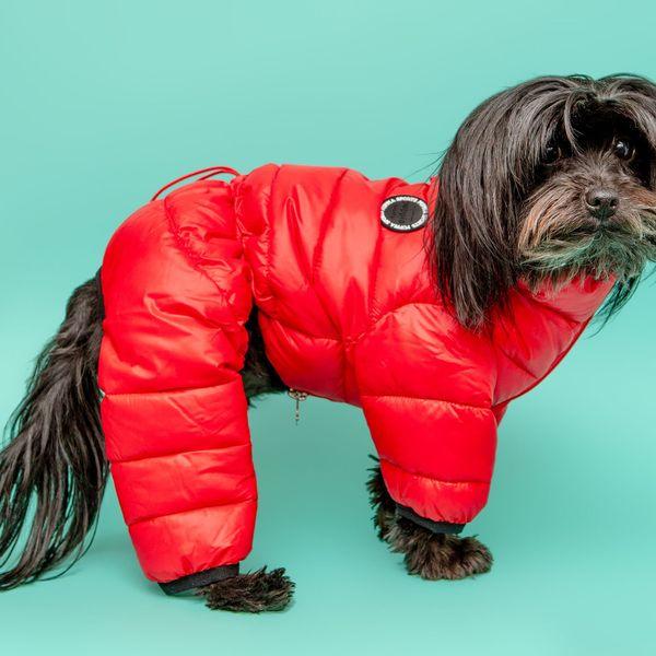 Ultralight Winter Puffer Jumpsuit in Red