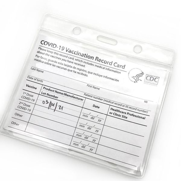 Clear 4X3 Plastic Immunization Card Holder