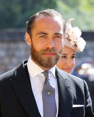 James Middleton at Prince Harry and Meghan Markle's royal wedding.
