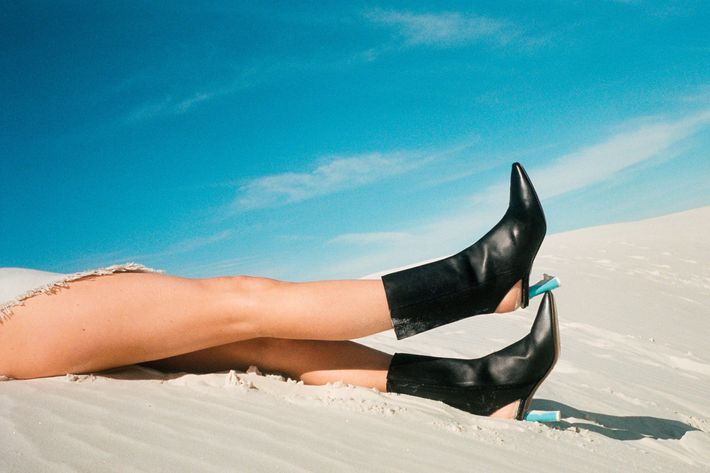 Vetements leather boots for the sand.