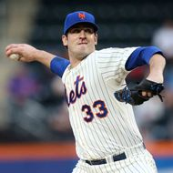 Matt Harvey #33 of the New York Mets pitches against the Chicago White Sox at Citi Field on May 7, 2013 in the Flushing neighborhood of the Queens borough of New York City.