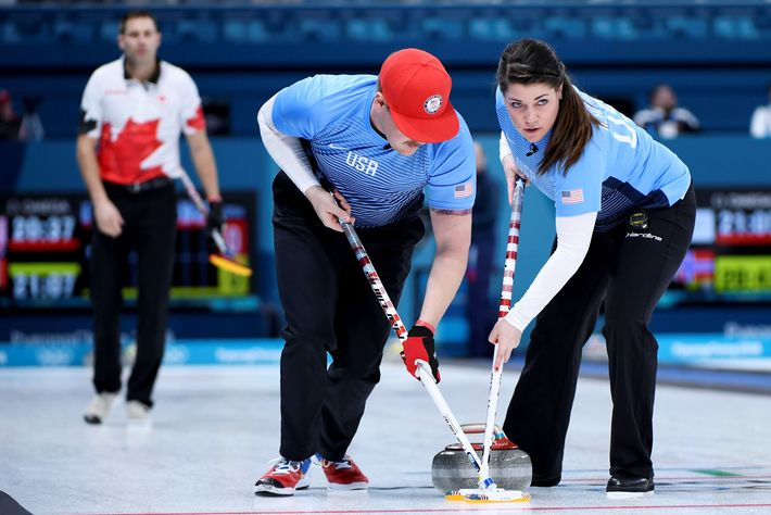 Matt And Becca Hamilton Of The U S Mixed Doubles Curling Team Photo Wang Zhao Afp Getty Images