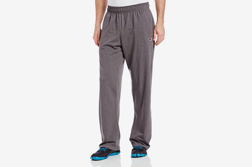 7713f80b8 Champion Men's Open Bottom Light Weight Jersey Pants