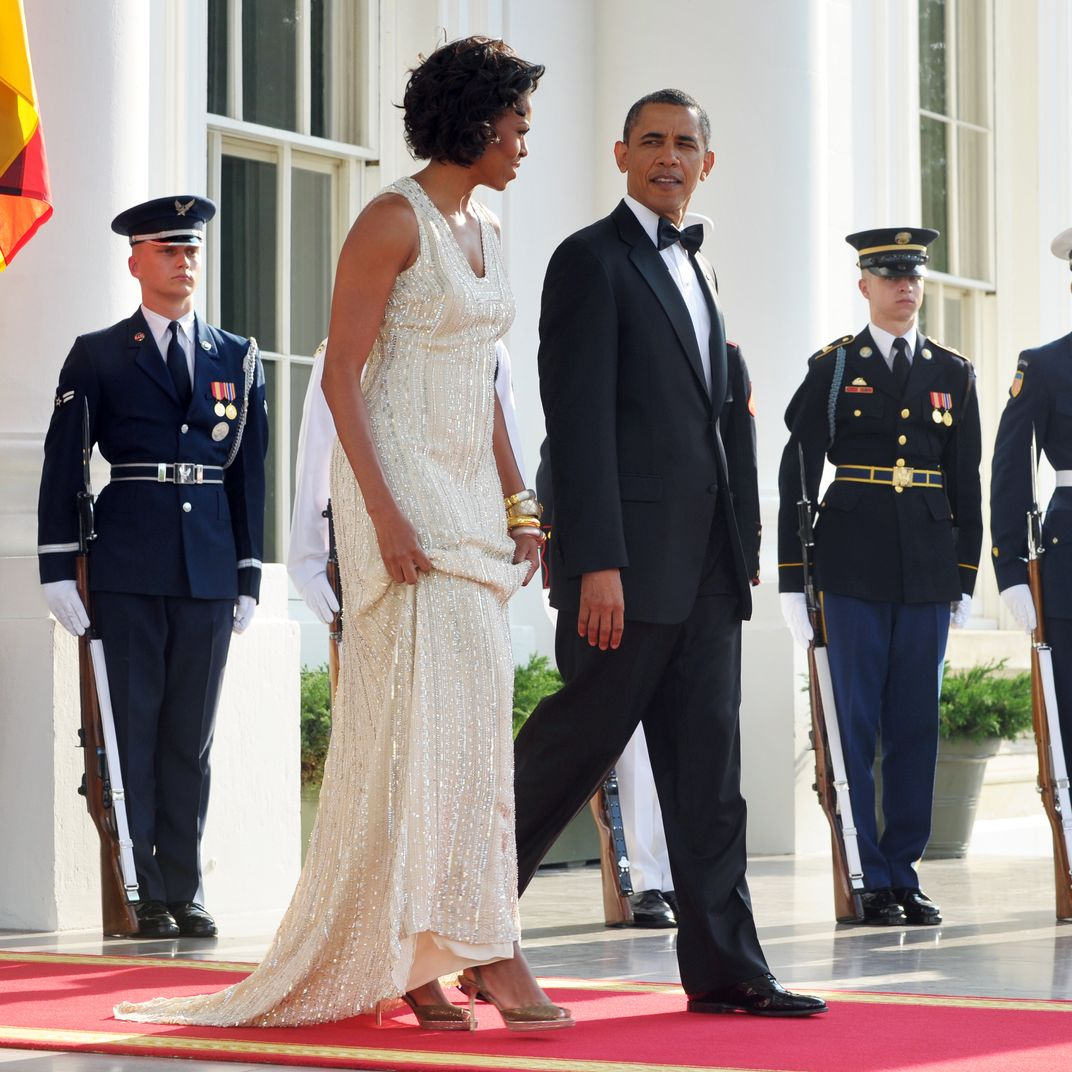955e5f9a4a All of Michelle Obama s White House State Dinner Outfits