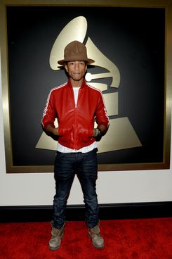 LOS ANGELES, CA - JANUARY 26:  Recording artist Pharrell Williams attends the 56th GRAMMY Awards at Staples Center on January 26, 2014 in Los Angeles, California.  (Photo by Larry Busacca/WireImage)